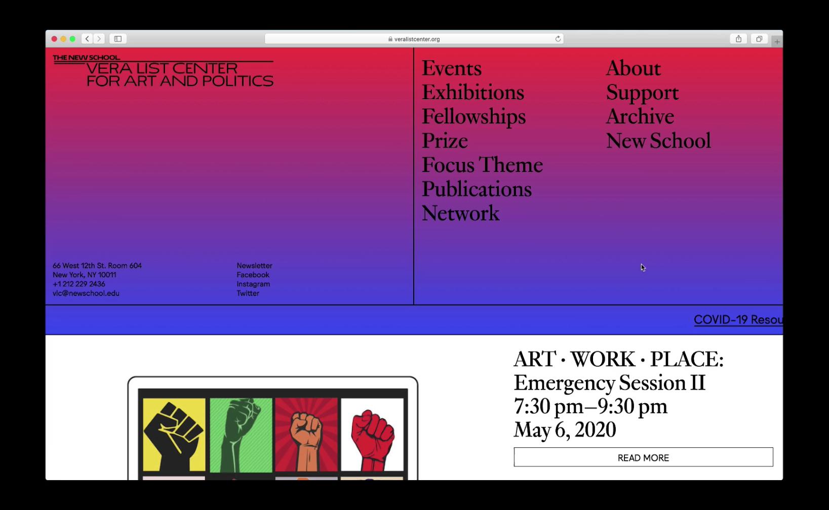 Vera List Center for Art and Politics